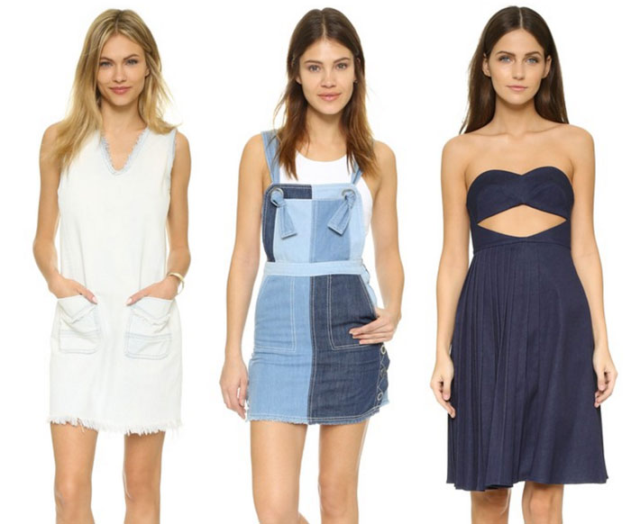 22 Unique Denim Pieces at Shopbop - Short Dresses