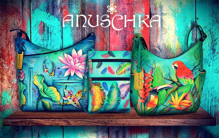 Hand Painted Leather Bags by Anuschka