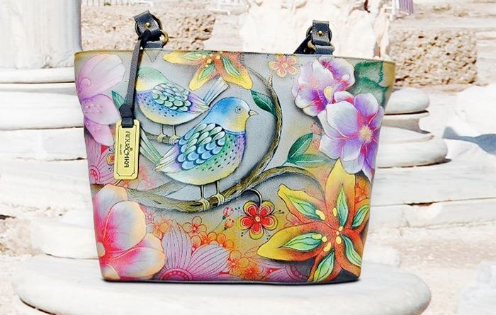 Hand Painted Leather Bags by Anuschka - Bag Close Up