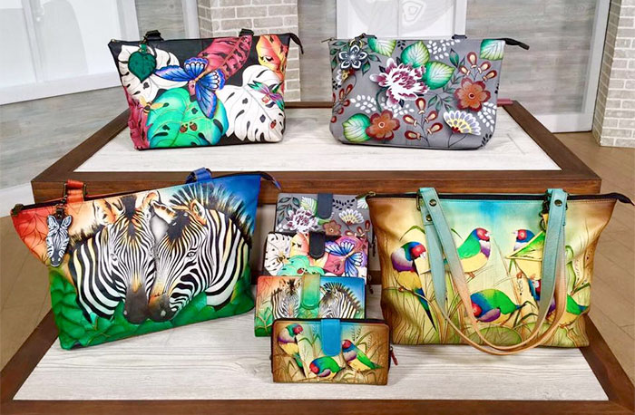 Hand Painted Leather Bags by Anuschka - Collection