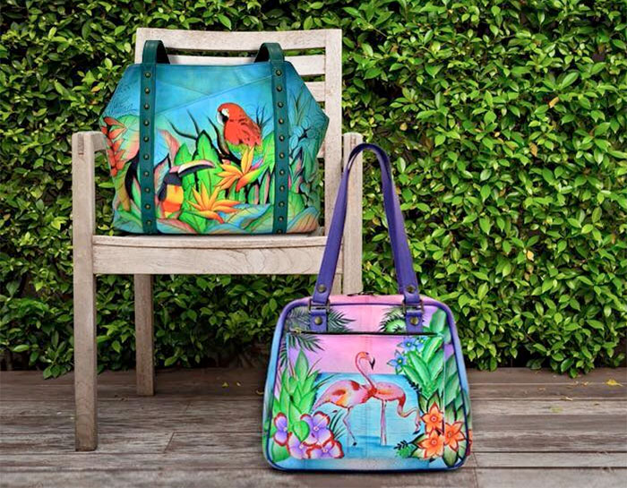 Hand Painted Leather Bags by Anuschka - Bags On Chair