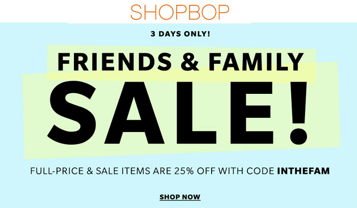 Shopbop Sale and Weekend Sendoff