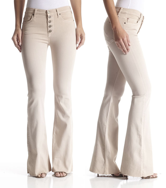New Fun Flares from Hudson Jeans - Jodi High Waist Flare in Parachute Khaki