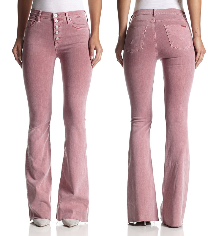 New Fun Flares from Hudson Jeans - Jodi High Waist Flare in Rose Coupe