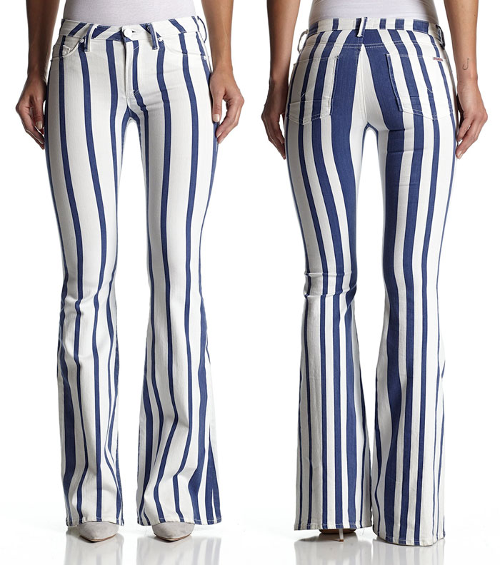 New Fun Flares from Hudson Jeans - Mia Midrise Flare in Mariner Stripe