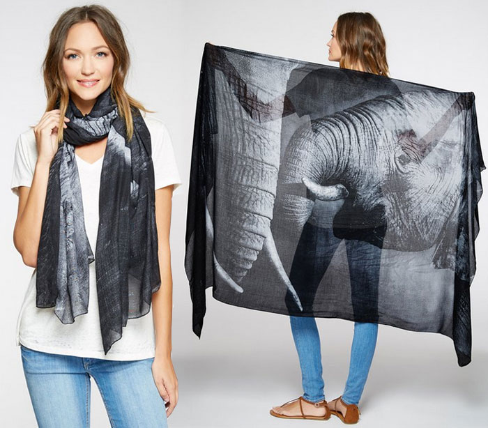 Endangered Species Scarves by Threads 4 Thought - Elephant