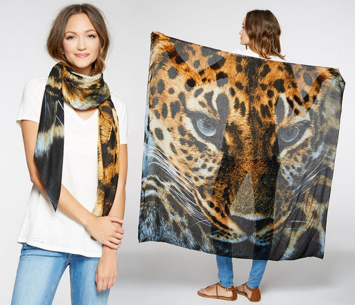Endangered Species Scarves by Threads 4 Thought - Leopard