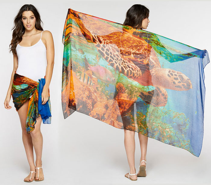 Endangered Species Scarves by Threads 4 Thought - Turtle