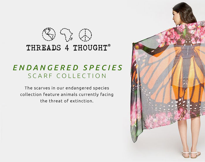 Endangered Species Scarves by Threads 4 Thought
