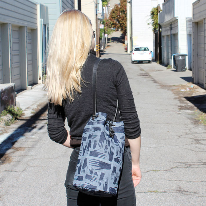 Modern Takes on Denim and Indigo at Fab - Hands Bucket Tote