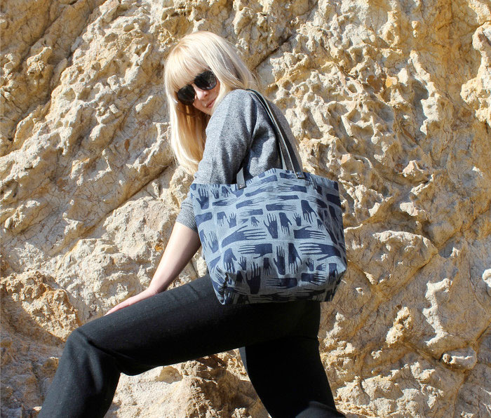 Modern Takes on Denim and Indigo at Fab - Denim Hands Tote