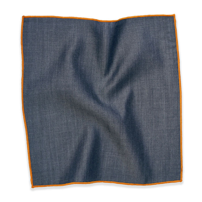 Modern Takes on Denim and Indigo at Fab - Denim Pocket Square