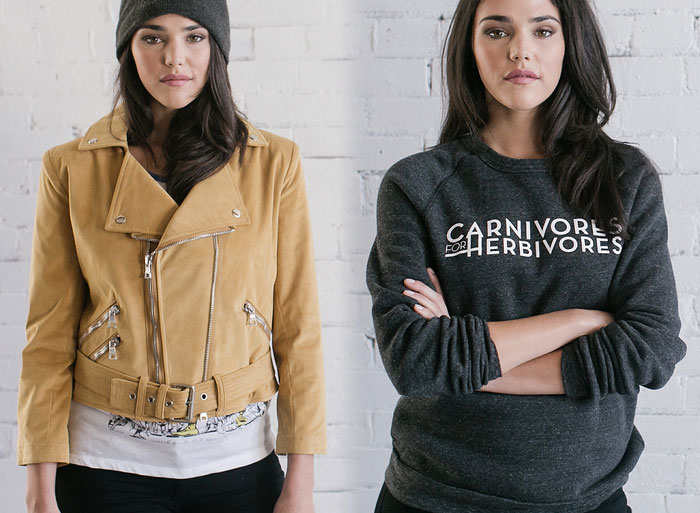 Omnivore Friendly Vegan Jackets by Fauxgerty - The Swazey Jacket and The Carney Sweatshirt