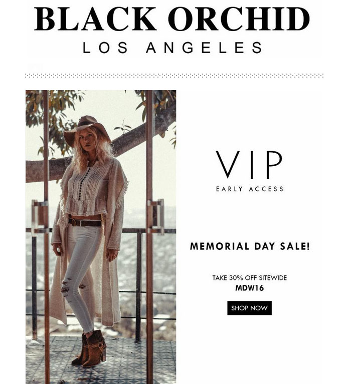 Memorial Day Denim Sale Picks - Black Orchid