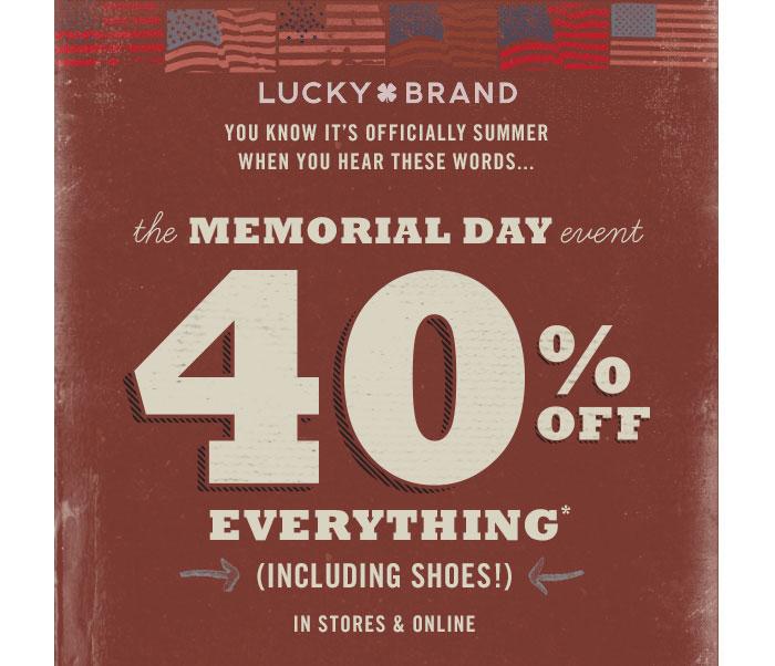 Memorial Day Denim Sale Picks - Lucky Brand