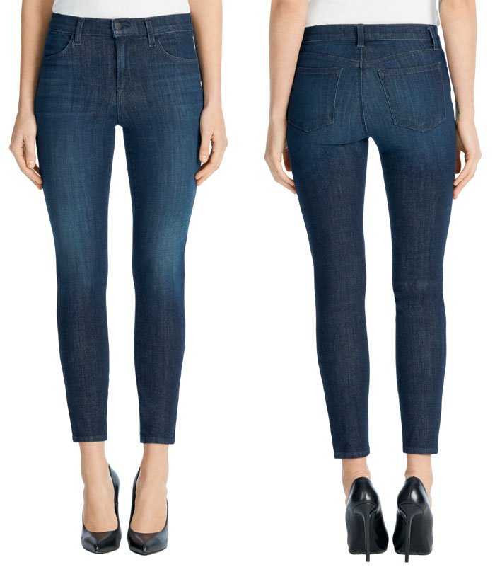 J Brand Introduces Hi-Def Stretch Jeans - Alaina High Rise Crop in Daring