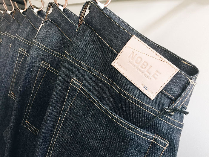 Responsibly Produced Jeans by Noble Denim - Denim Hanging Up