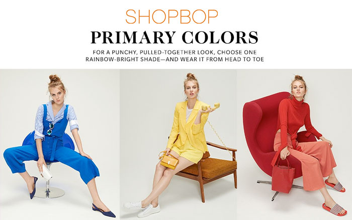 Shop Your Favorite Primary Colors at Shopbop