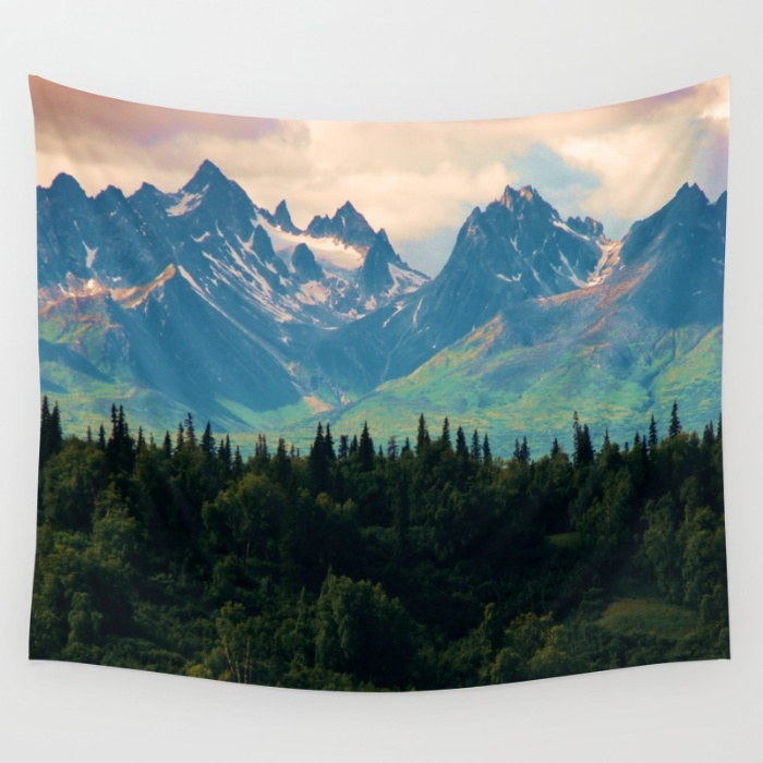 Tapestries for your Walls at Society6 - Escaping from Woodland Heights
