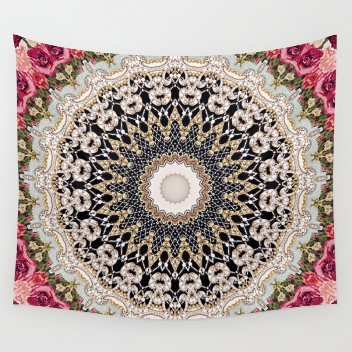 Tapestries for your Walls at Society6 - Mandala Hahusheze by Elias Zacarias