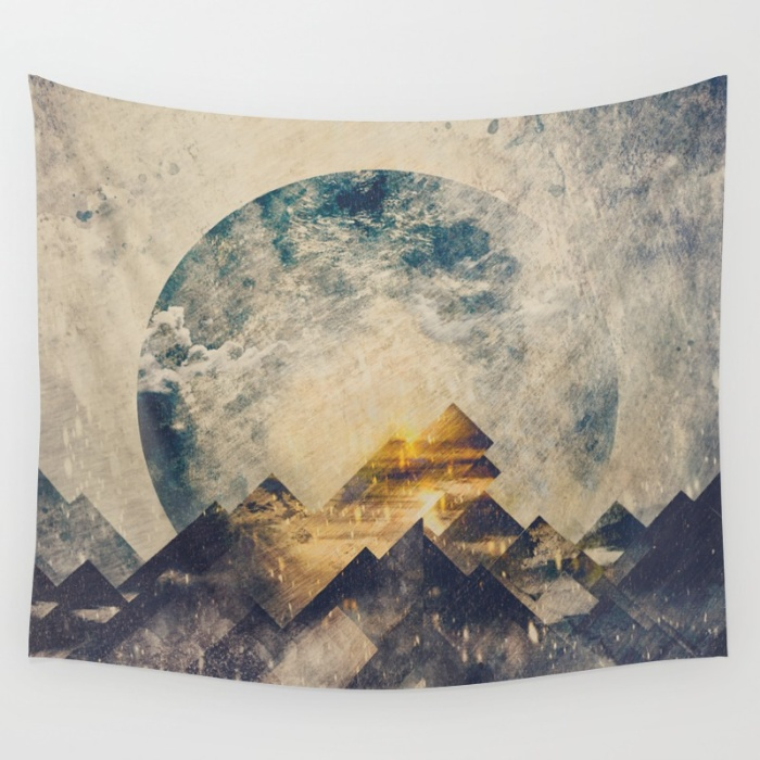 Tapestries for your Walls at Society6 - One Mountain At a Time by HappyMelvin