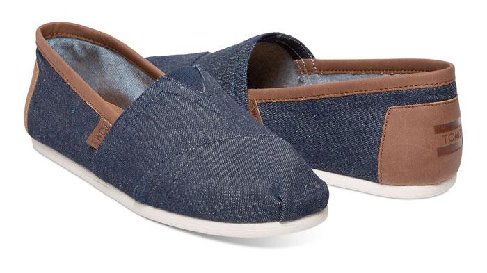 Denim Shoes for Everyone at TOMS - Denim Men's Classics