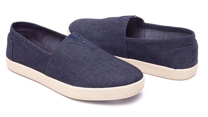 Denim Shoes for Everyone at TOMS - ark Denim Men's Avalon Slip-Ons