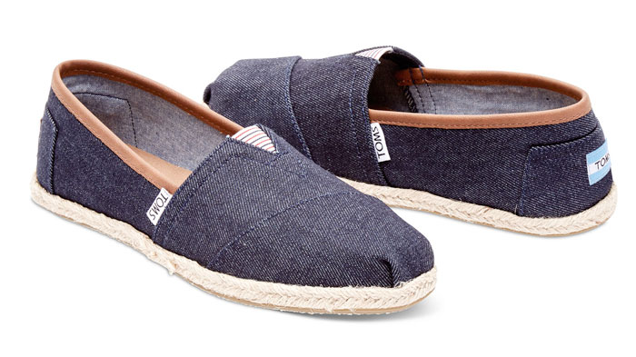 Denim Shoes for Everyone at TOMS - Dark Denim Rope Sole Women's Classics