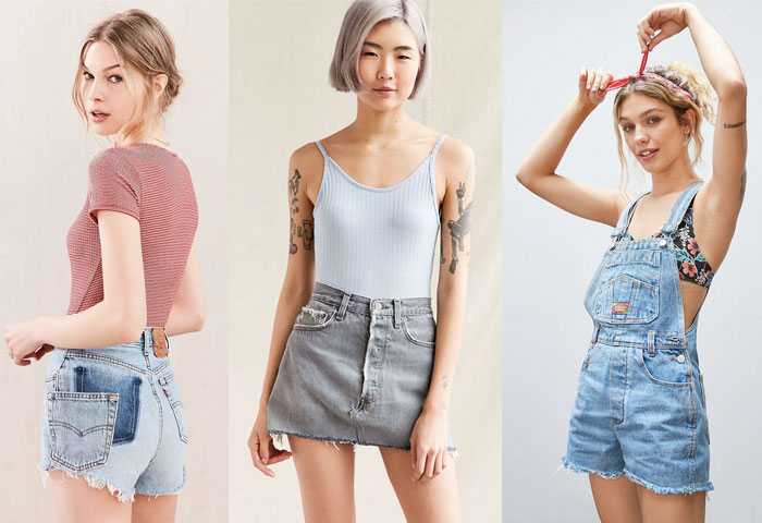 Urban Renewal Vintage Shop at Urban Outfitters - Shorts, Skirt and Overall