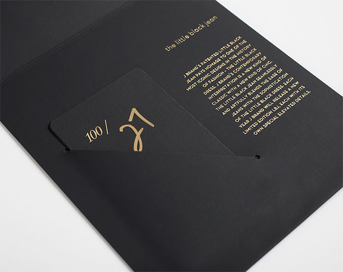 J Brand Gold Noir and Limited Edition 24k Natasha - Natasha Card