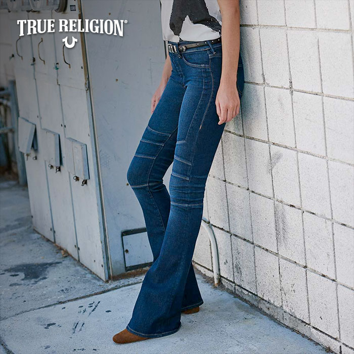 The True Religion Moto Flares
