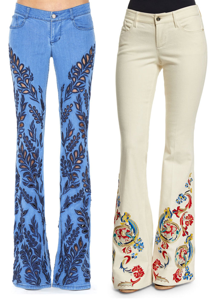 Patched and Embroidered Denim for Fall - Alice & Olivia