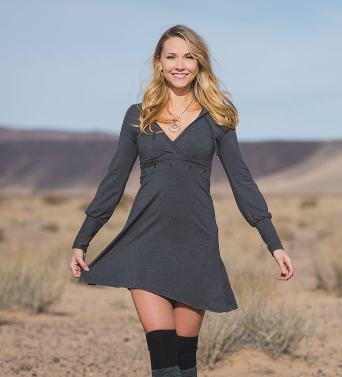 The Fall 2016 Collection from Nomad's Hemp Wear - Grey Dress