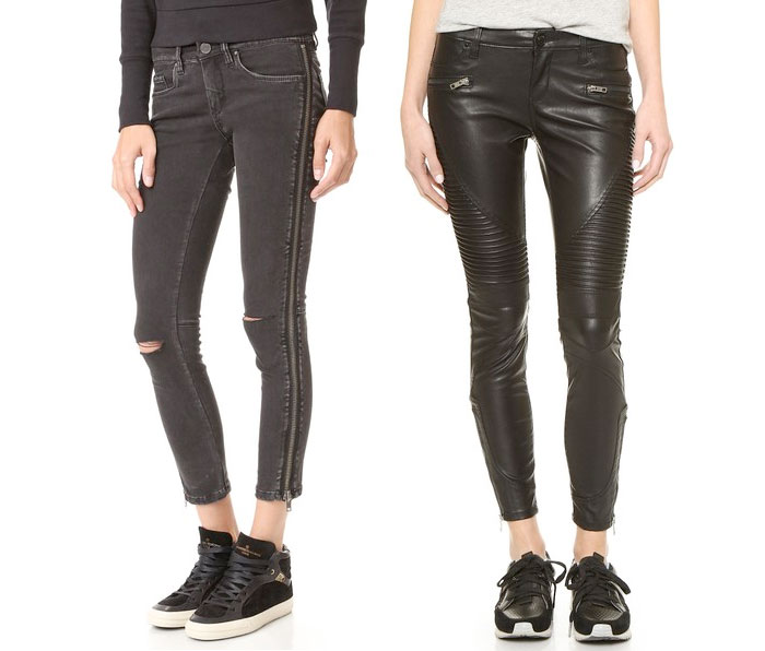 Back to Black for Fall with BLANKNYC - Side Zipper and Vegan Leather Moto