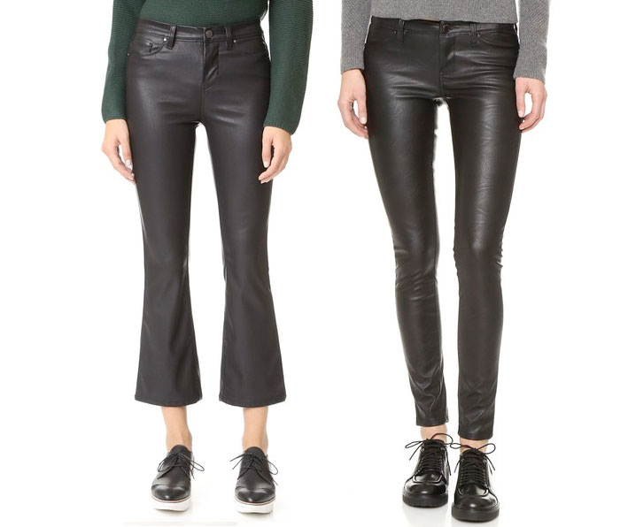 Back to Black for Fall with BLANKNYC - Cropped Kick Flare and Vegan Leather Pants