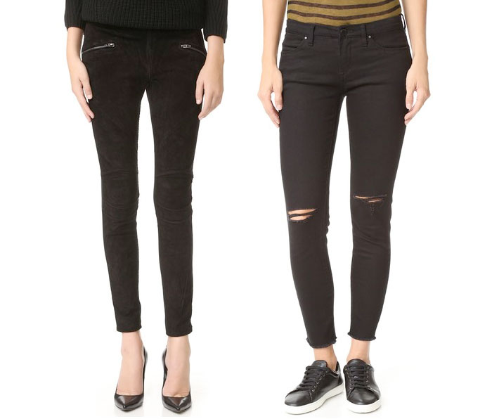 Back to Black for Fall with BLANKNYC - Suede and Ponte Leggings and Black Ripped Skinny with Raw Hem