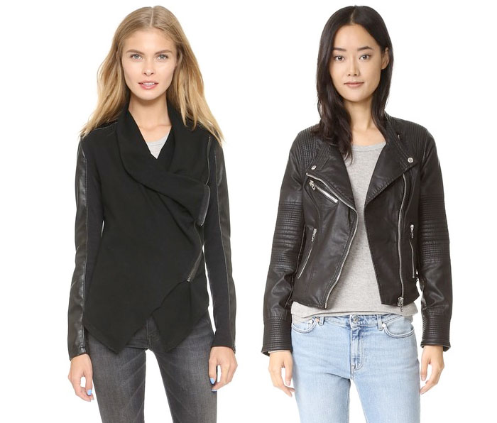 Back to Black for Fall with BLANKNYC - Vegan Leather & Ponte Jacket and Vegan Leather Moto Jacket