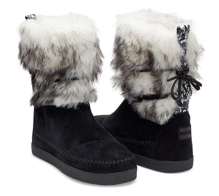 The TOMS x Prabal Gurung Collection for Nepal - Black Suede Contrast Women's PG Nepal Boots