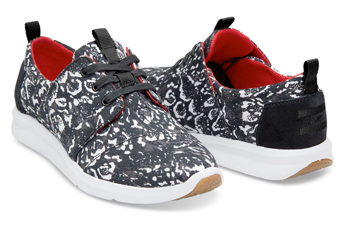 The TOMS x Prabal Gurung Collection for Nepal - Black Snow Leopard Women's PG Del Rey Sneakers