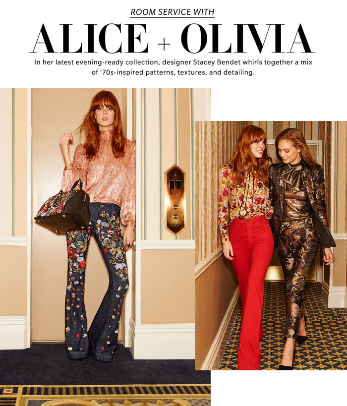 '70s Vibes with alice + olivia at Shopbop - Room Service