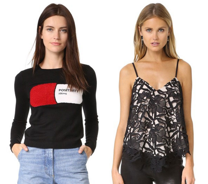 '70s Vibes with alice + olivia at Shopbop - Tops