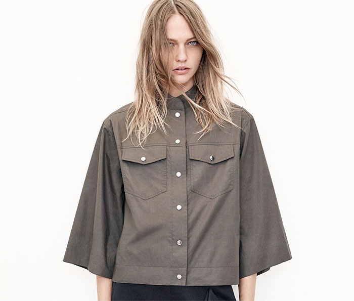 A New Sustainable Collection from Zara - Belled Sleeve Shirt