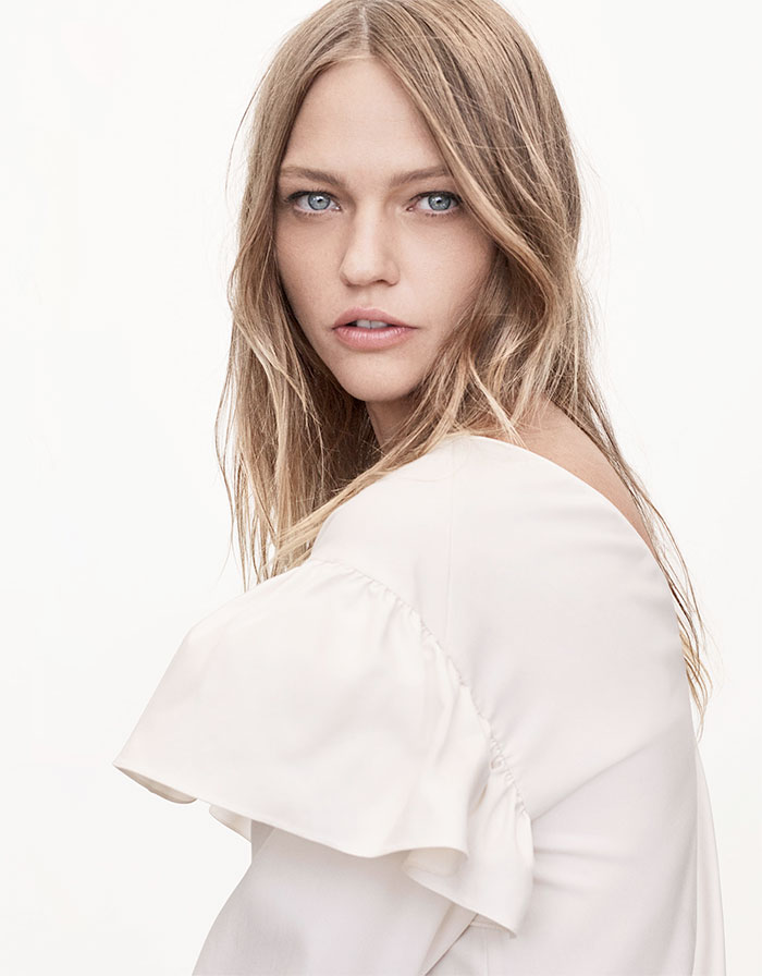 A New Sustainable Collection from Zara - Frilled Sleeve Blouse