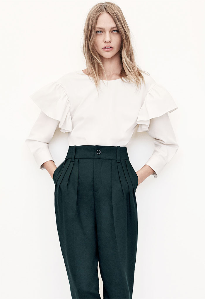 A New Sustainable Collection from Zara - Gathered Trousers