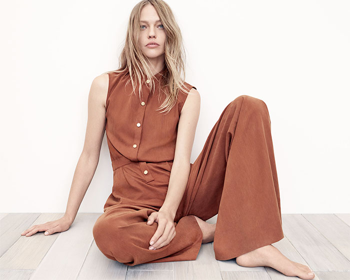 A New Sustainable Collection from Zara - Gathered Waist Jumpsuit