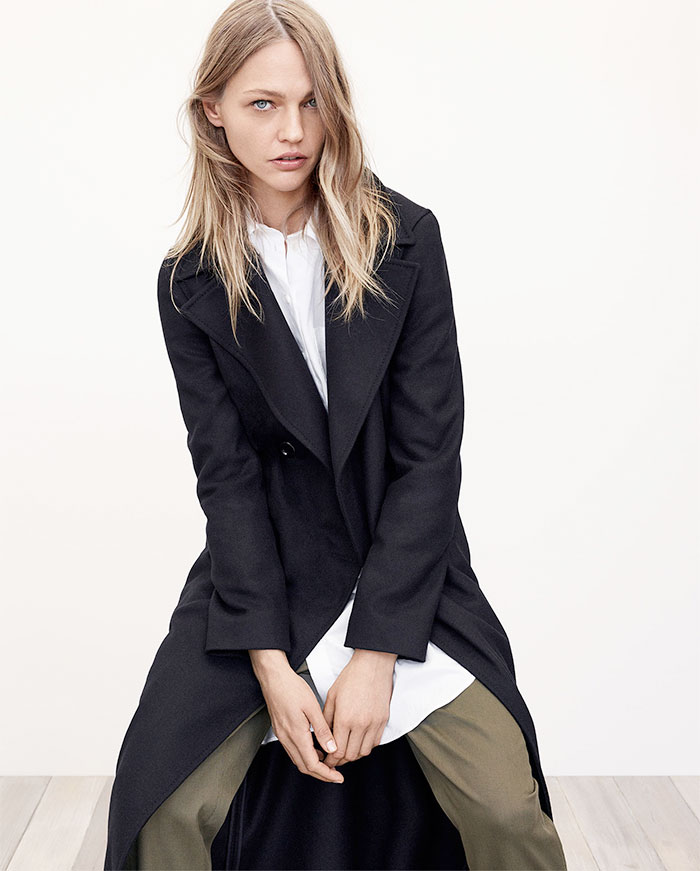 A New Sustainable Collection from Zara - Long Recycled Wool Coat