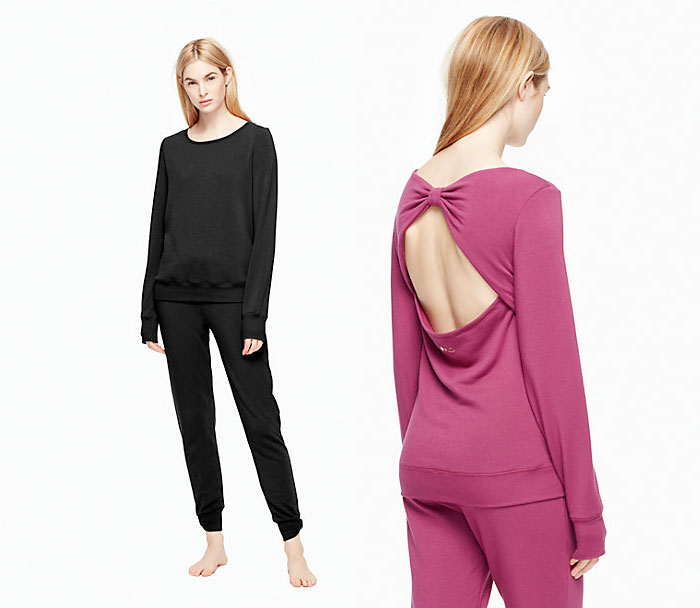 The Beyond Yoga x Kate Spade New York Collection - Cozy Fleece Bow Pullover
