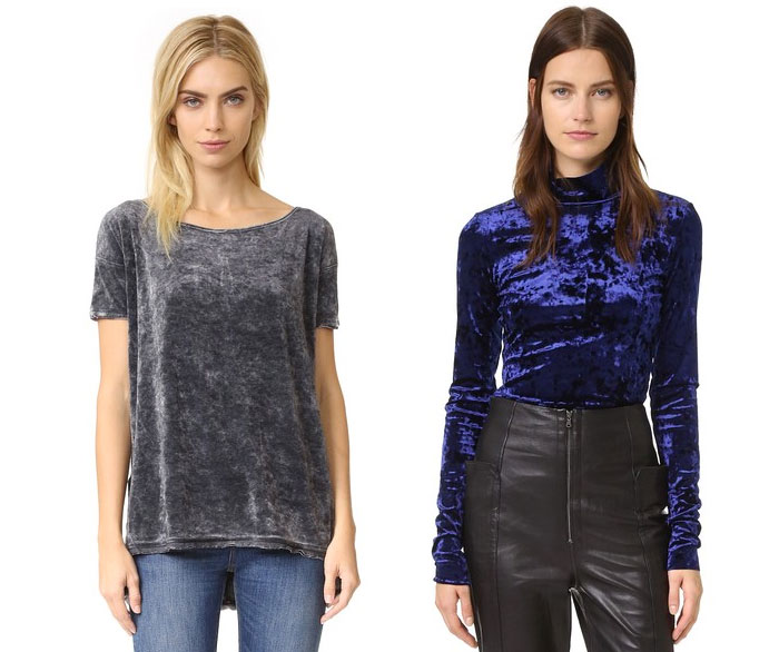 Velvet is the Fabric for Fall - Tops