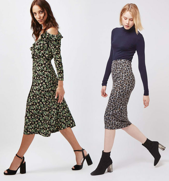 She's Folk Rock Collection at Topshop - Dress and Knee-Length Skirt