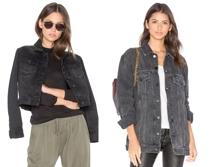 Faded Black Denim for Fall - Jackets